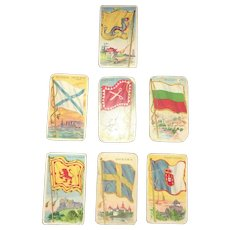 Early 20th Century Advertising Tobacco Collectible Cigarette Cards By Recruit and Hustler