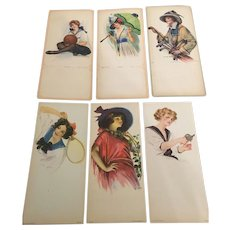 Early american Ephemera Advertising and Pageant Cards Some Dated and Signed Circa 1910-20