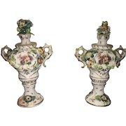 19th Century Set of Royal Vienna Figurative Urns