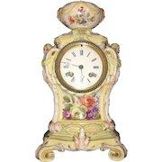 18th Century German  Royal  Berlin Manufacktur Porcelain Mantle Clock