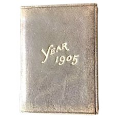 Americana Soft Leather bound Advertising Petite Calendar and Stamp Case Diary dated 1905