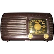 Early American Brown Bakelite Zenith Am Radio Circa 1941