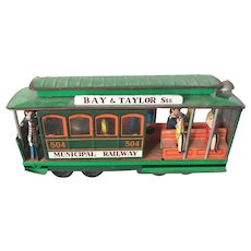 Vintage Japanese Export Toy San Francisco Municipal Trolley Circa 1950's