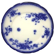 19th Century Grindley England Flow Blue Charger Plate Le Pavot pattern 1896