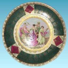 19th Century Artist Signed  Hand Painted Austrian Royal Vienna Charger Plate