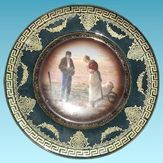 20th Century Austrian Transfer Royal Vienna Charger Plate hallmark and Numbered