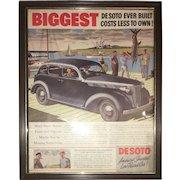 Vintage American Desoto Car Advertisement