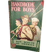 20th Century Americana  Handbook For Boys Circa 1945