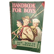 20th Century Americana  Handbook For Boys Circa 1945
