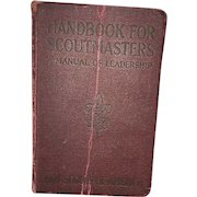 Early Americana Hardback Red Handbook For Scout Masters Circa 1929