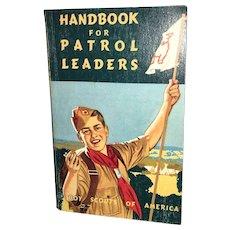 Vintage Americana Handbook for Patrol Leaders Circa 1965