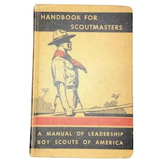 Vintage Americana Hardback Handbook for Scoutmasters Volume ii Circa 1942