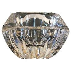 Mid century French Elaborate Crystal Ashtray