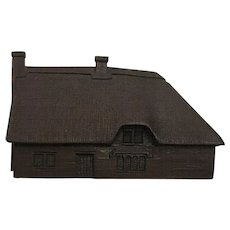 English Collectible Miniature Bronze Cottage Shire Lane Series Somerset 2 by Brian Dollemore