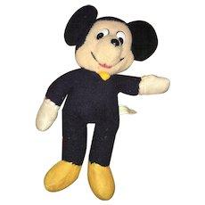 Vintage Knickerbocker Plush Walt Disney Productions Mickey Mouse Doll