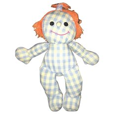 Vintage Hasbro Collectible Sweet Dreams Plush Romper Room Softies Sleep Doll