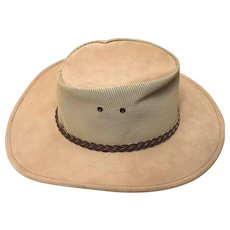 Australian Outback Jacaru Summer Breeze Leather Hat Circa 1970's