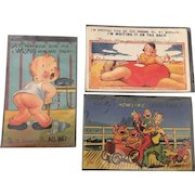 Postmarked and Used American Postcard Collection Circa 1938