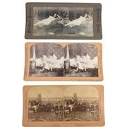 Three Stereo Photograph Set Circa 1867-1900