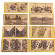 Collection of 8 Stereo view Pastoral Photographs Circa 1860-1900