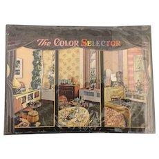 W.H. wise Company Advertising Color Decorator Selector circa 1947