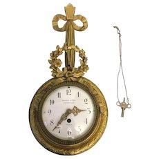 French Bagues & Fils Parisian Bronze Cartel Wall Clock