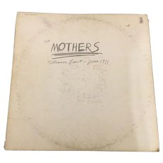 Vintage 1971 Vinyl LP Mothers Fillmore East by Reprise Records