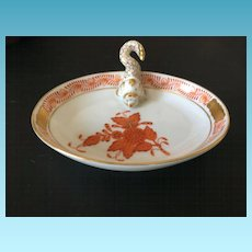 Vintage Hungarian Herend Hand Painted Specialty Serving Dish circa 1930's