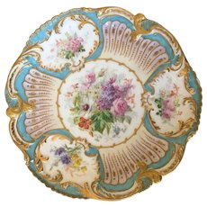 19th Century French Hand Painted and Elaborately Designed Charger Plate