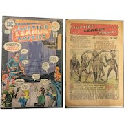 Silver Age  Pair of Justice League of America Comics Circa 1960's