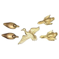 Early American Wildlife Hand Crafted Brass Duck & Geese Collection