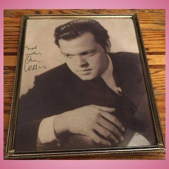 Original Autographed Headshot Photo of Orson Welles