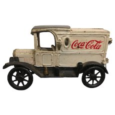 Vintage Cast Iron Coca Cola Collectible Delivery Truck Circa 1972