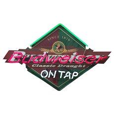 Vintage Budweiser Beer fluorescent Bar Sign Circa 1990's
