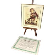"""Vintage M.J. Hummel 3"""" Portrait Stand in original Wrappings and Box"""
