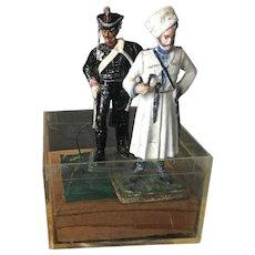 Vintage and Rare Russian Custom Cast Metal Figurines Imports Circa 1992
