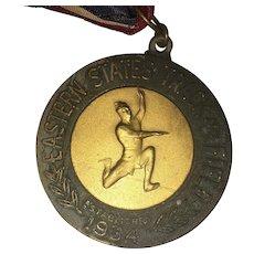 Vintage Eastern State Track & Field Established in 1934 Medal