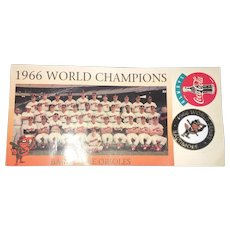 Original Pin and Team Photo Memorabilia Issued at the Baltimore Orioles World Series in 1966