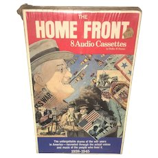 The Home Front: World War II Documentary Eight  Audio Cassettes Circa 1985