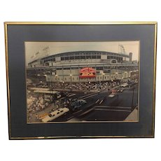 Vintage Limited Edition Signed Bob Horsch Photograph of Wrigley Field Reopening 08-08-1988