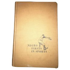 Vintage hardcover Negro Firsts in Sports  By A.S. Doc Young  Copyright 1963