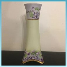 Early 20th Century H & C Selb Bavaria Hand Painted Flower Vase