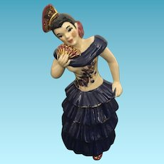 Vintage Asian Lady Figure by Ceramic Arts Studio Madison Wisconsin