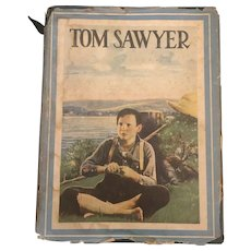Vintage American Classic Hardcover To Sawyer By Mark Twain Circa 1931