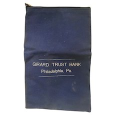 Vintage Girard Trust Bank of Philadelphia Secure Lock Bank Deposit Bag by A. Rifkin & Co
