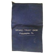 Vintage Girard Trust Bank of Philadelphia Secure Lock Bank Deposit Bag by A. Rifkin & Co