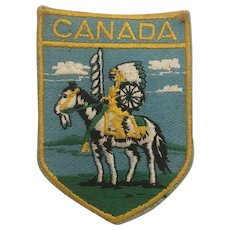 Vintage Canadian Native Indian tribal Patch Circa 1960's