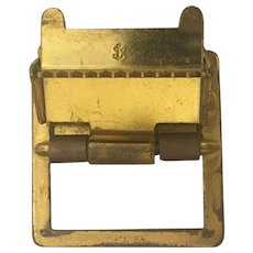 Vintage American Brass Belt Buckle with Navy Insignia Mark