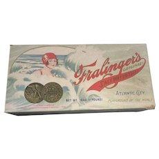 Vintage 1970's Atlantic City NJ Famous Fralinger's  Salt Water Taffy Box