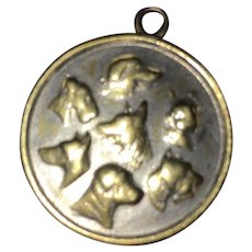Vintage Silvertone Bordeaux France Dog Spa Collar Charm